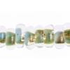 Lamp Bead Donut 50pc 9mm Aquamarine
